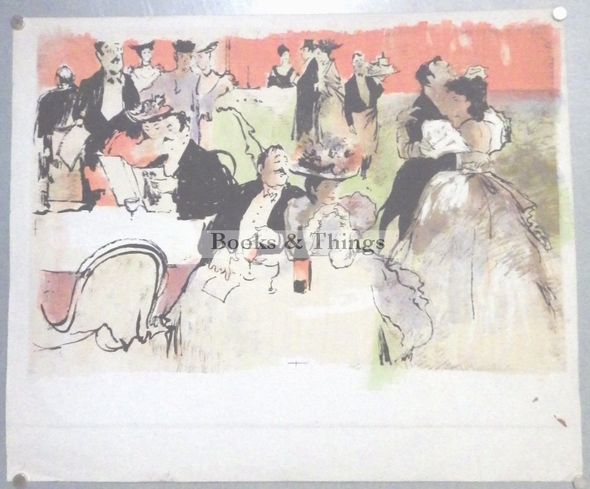 cafe lithograph