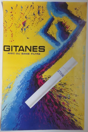 Jacques Auriac poster Gitanes