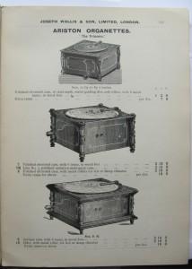 Joseph Wallis Musical Instruments catalogue 1906