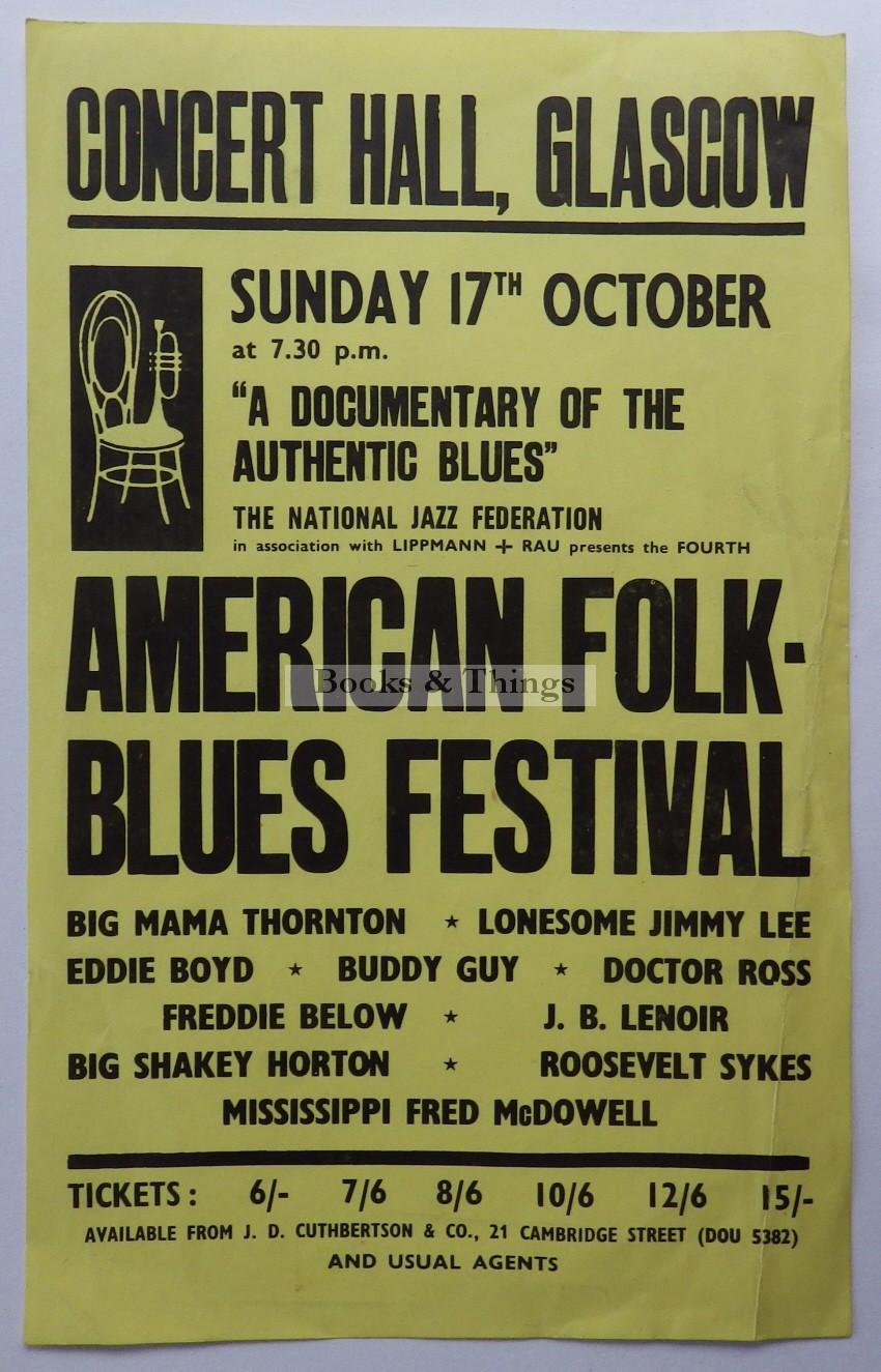 American Folk Blues Festival leaflet