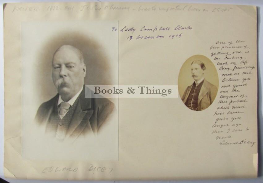 Edward Dicey photograph & autograph