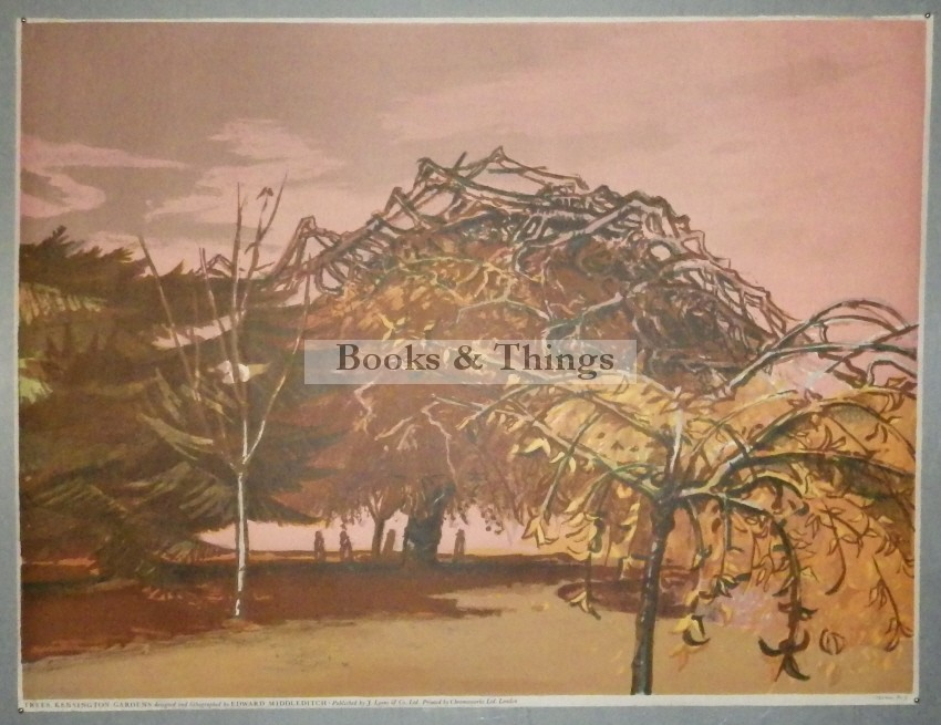 Edward Middleditch lithograph Trees Kensington