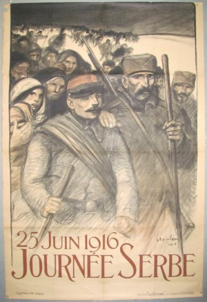 Theophile Steinlen poster Journee Serbe