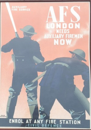 Frank Newbould poster Auxiliary Fire Service