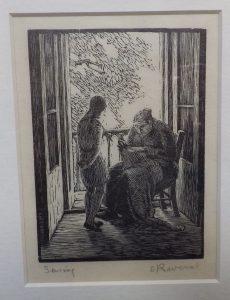 Gwen Raverat woodcut