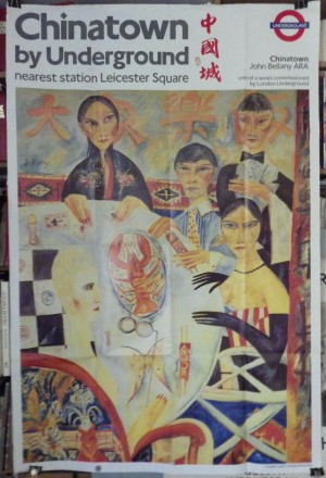 John Bellany poster Chinatown