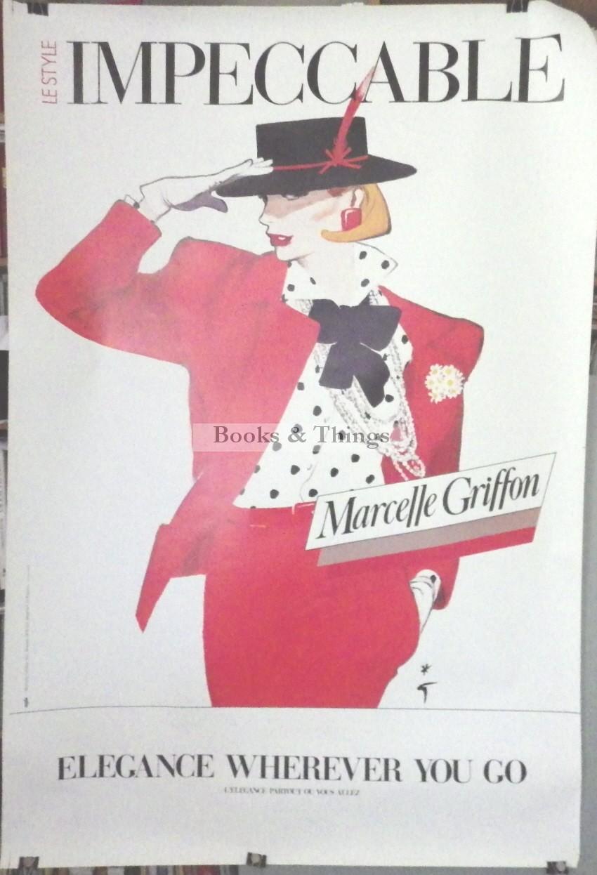 Rene Gruau poster Marcelle Griffon