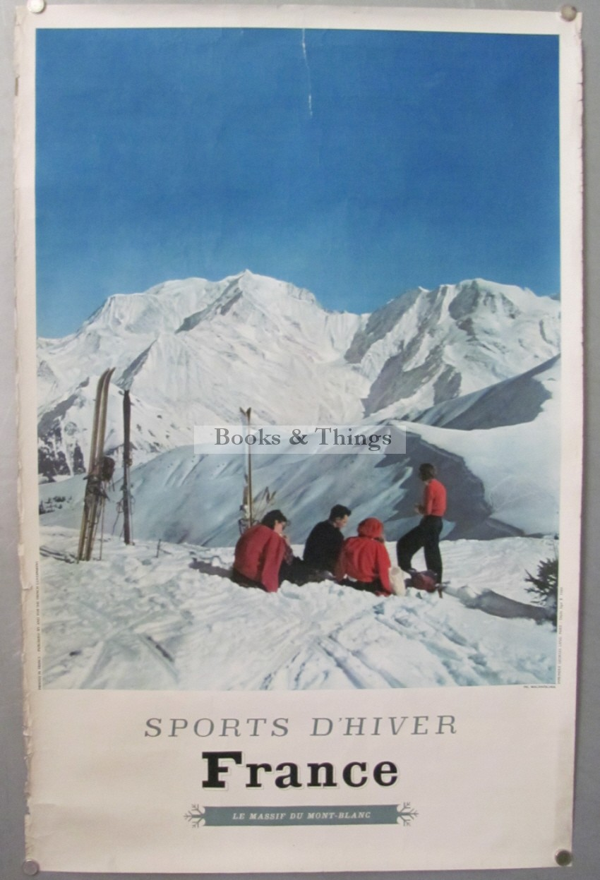 French Ski poster Sports d'Hiver