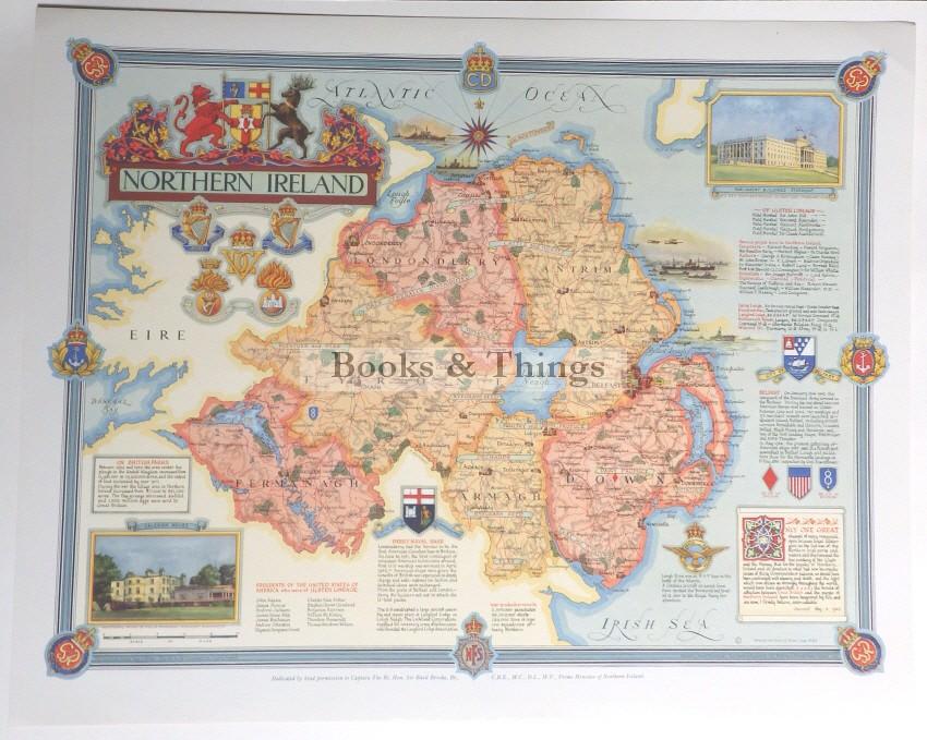 Ernest Clegg Northern Ireland map