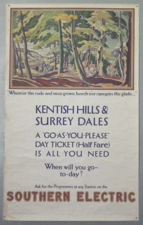 Ethelbert White Southern Electric railway poster