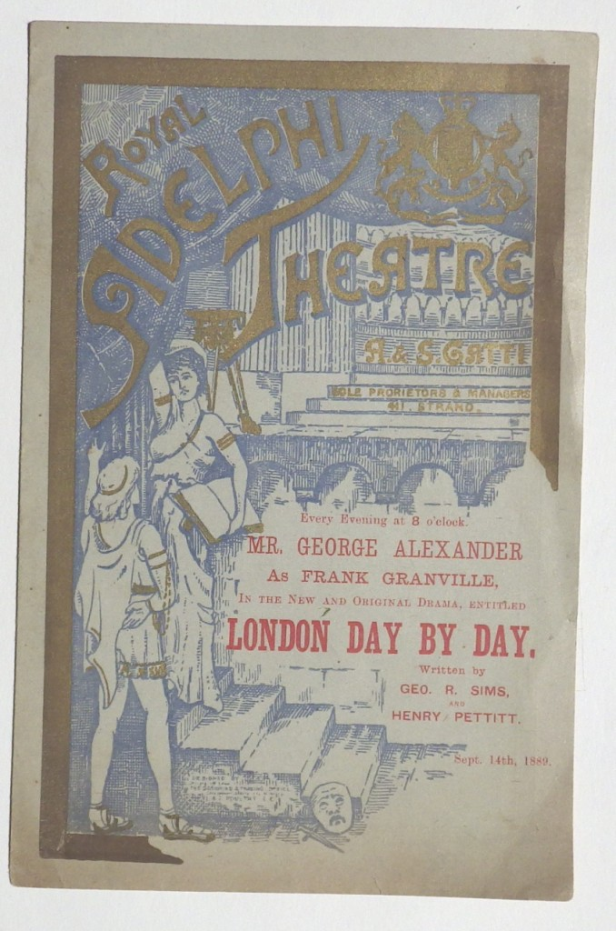 George Alexander Royal Adelphi Theatre programme