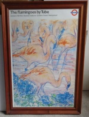 Kay Gallwey poster Flamingoes