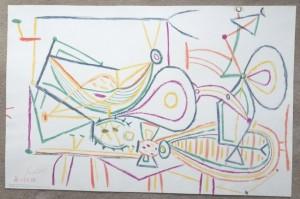 Pablo Picasso lithograph Composition School Print