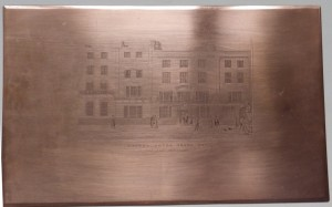 copper plate of Angel Hotel Oxford