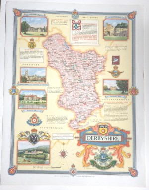 Ernest Clegg Derbyshire map