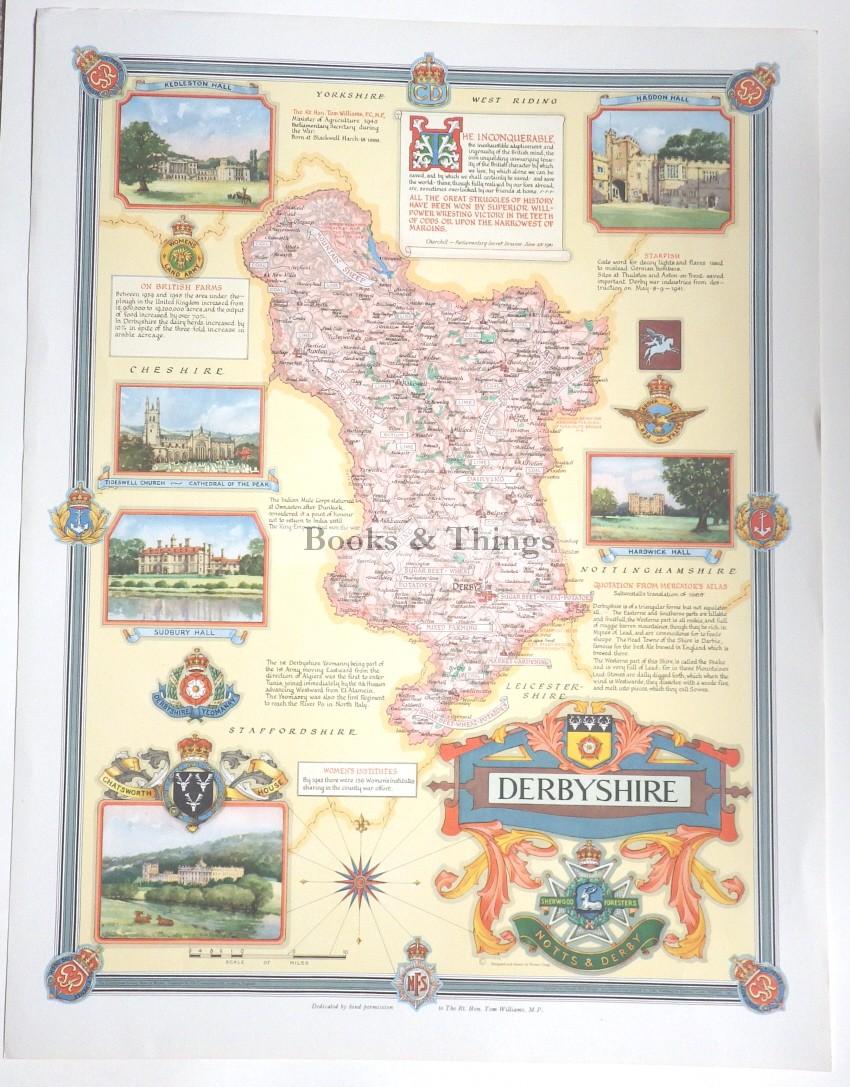 Ernest Clegg Derbyshire map