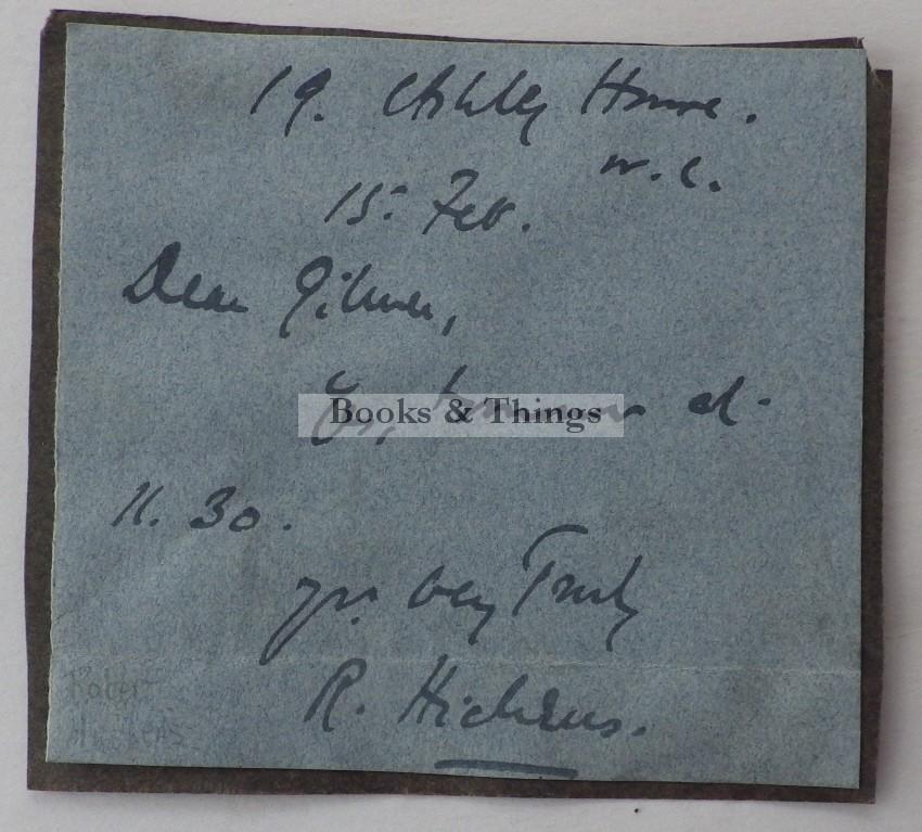 Robert Hitchens autograph