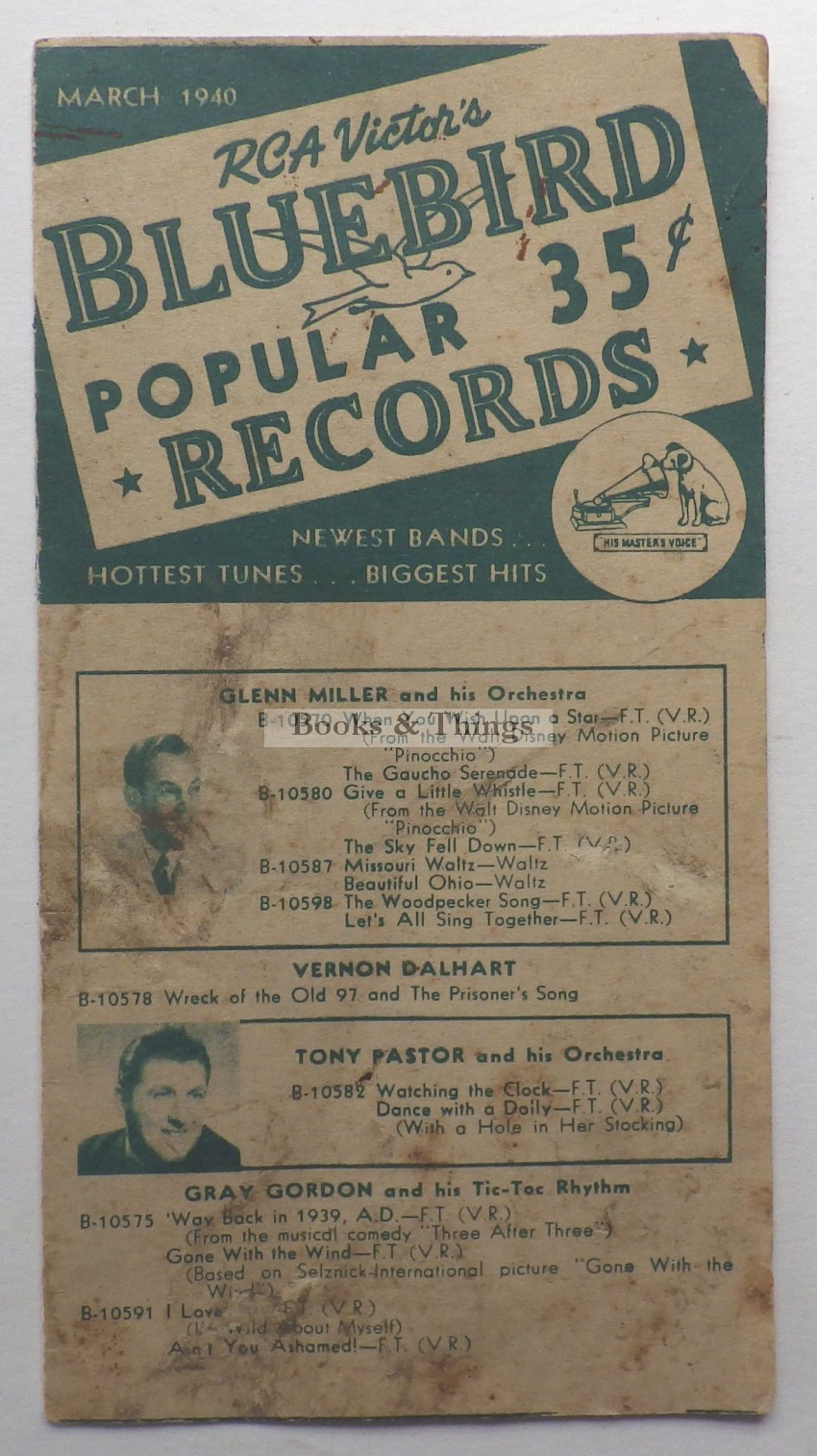 Bluebird records catalogue