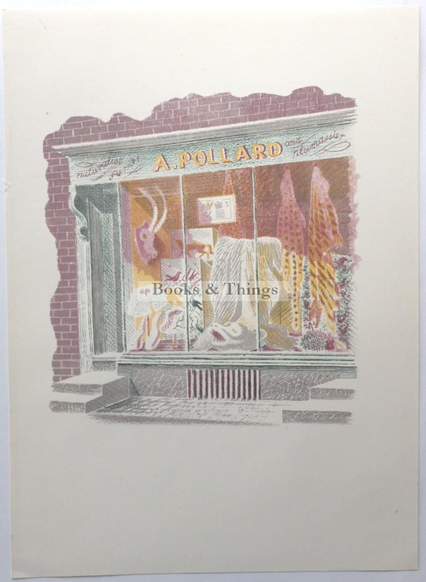 Eric Ravilious lithograph Furrier