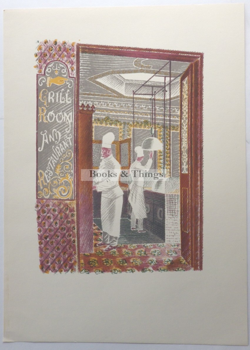 Eric Ravilious lithograph Grill Room