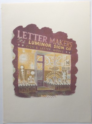 Eric Ravilious lithograph Letter Makers