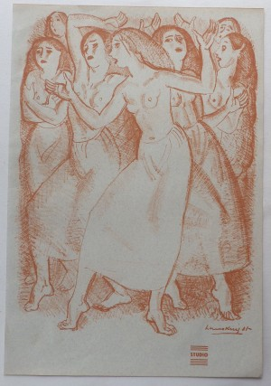 Laura Knight lithograph