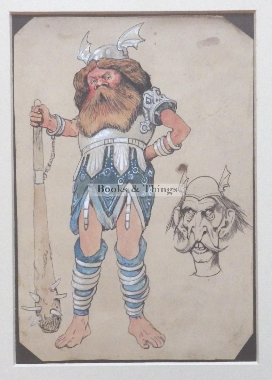 viking watercolour