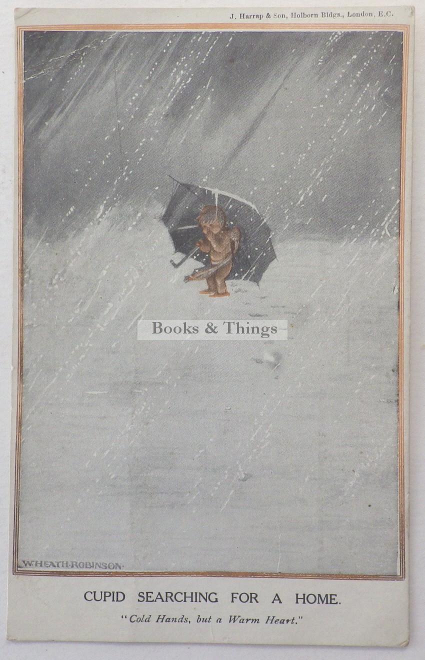 W. Heath Robinson postcard Cupid