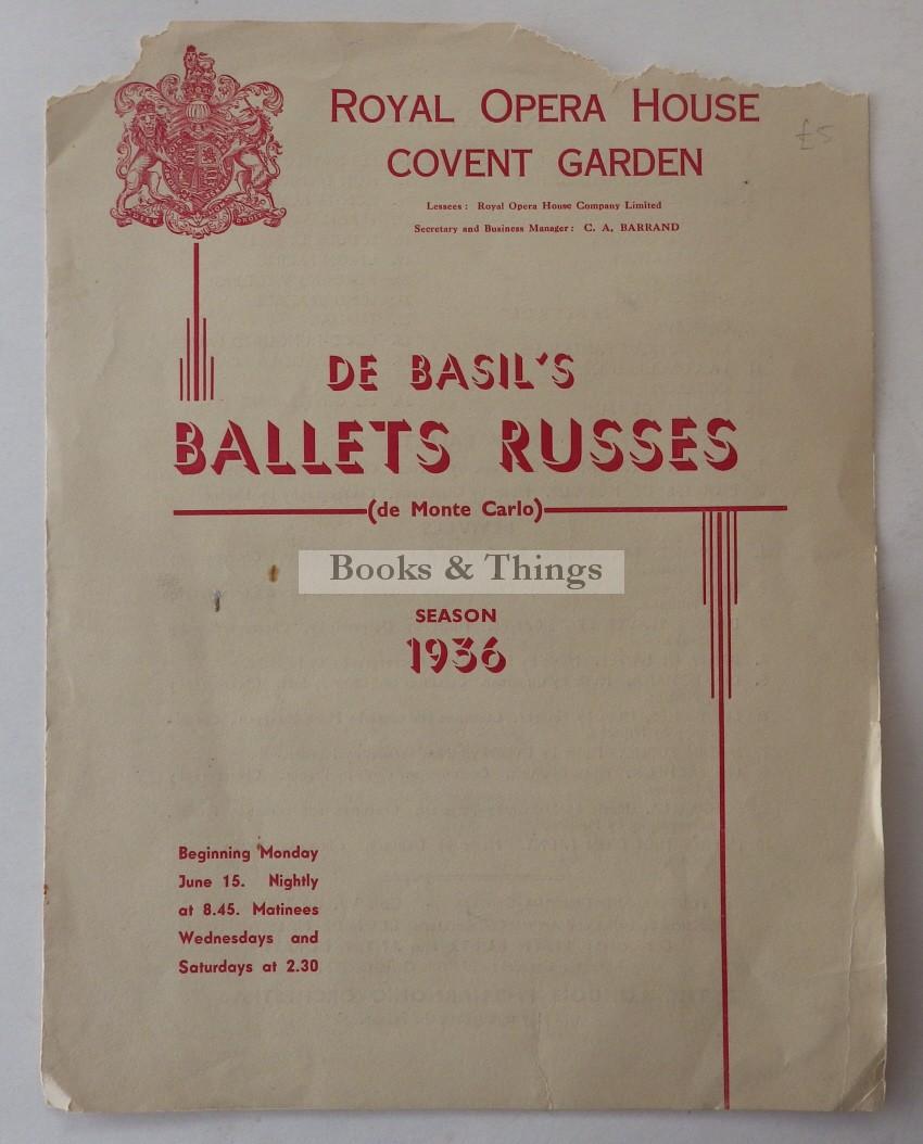 Ballets Russes programme 1936