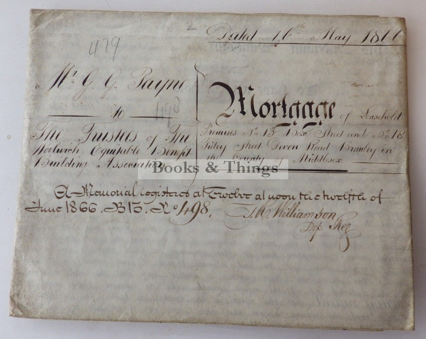 Bromley Mortgage 1866