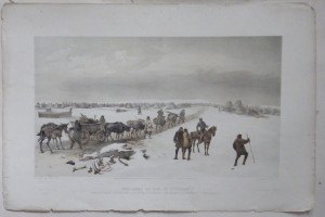 Camp of the 1st Division lithograph