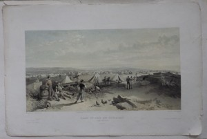 Camp of the 4th Division lithograph
