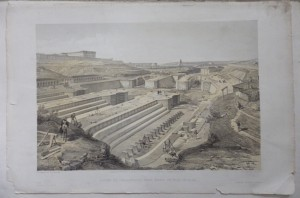 Docks at Sebastopol lithograph