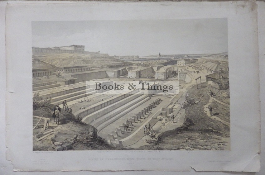 Docks at Sebastopol lithograph