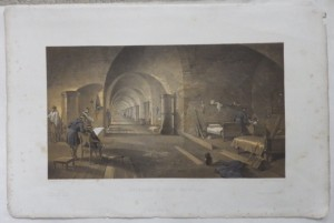Interior of Fort Nicholas lithograph