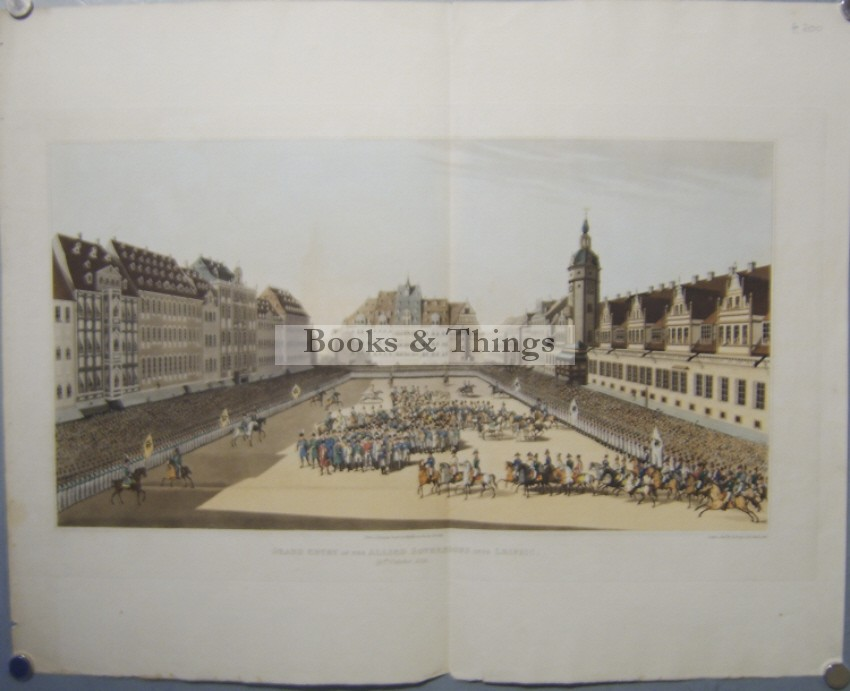 R. Bowyer Flight of the French from Leipsic aquatint