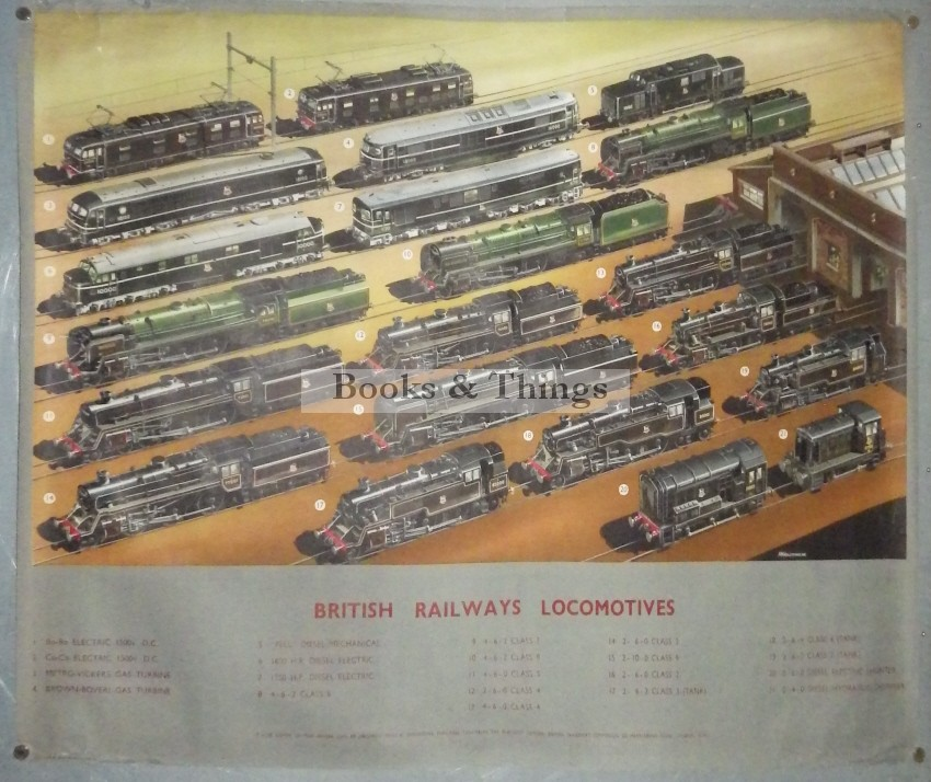 A. N. Wostenholme British Railways Locomotives poster