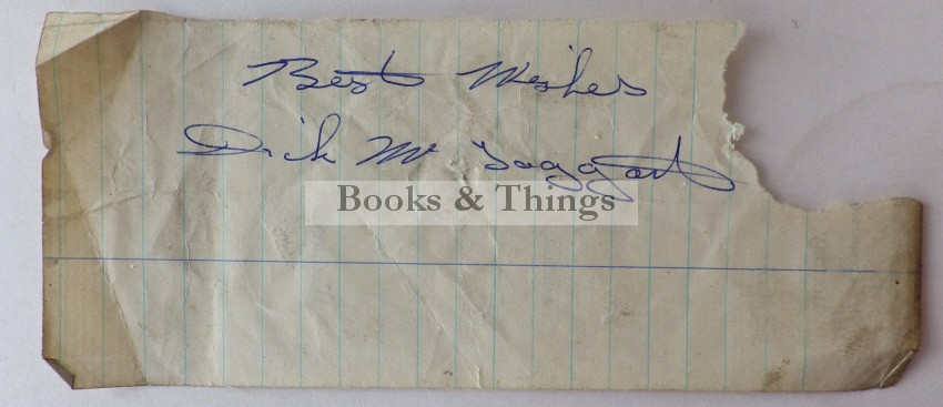 Dick McTaggart autograph