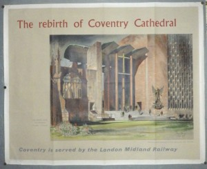 Basil Spence Coventry Cathedral poster