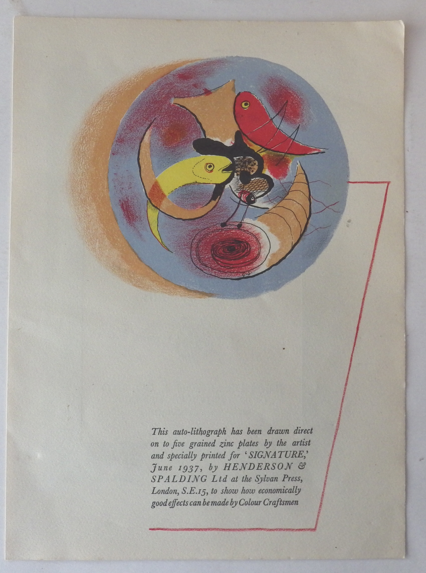 Graham Sutherland lithograph