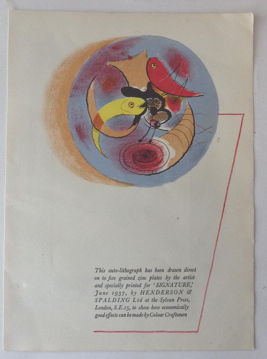 Graham Sutherland lithograph