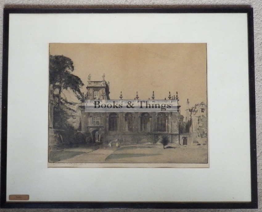 William Nicholson lithograph Trinity College