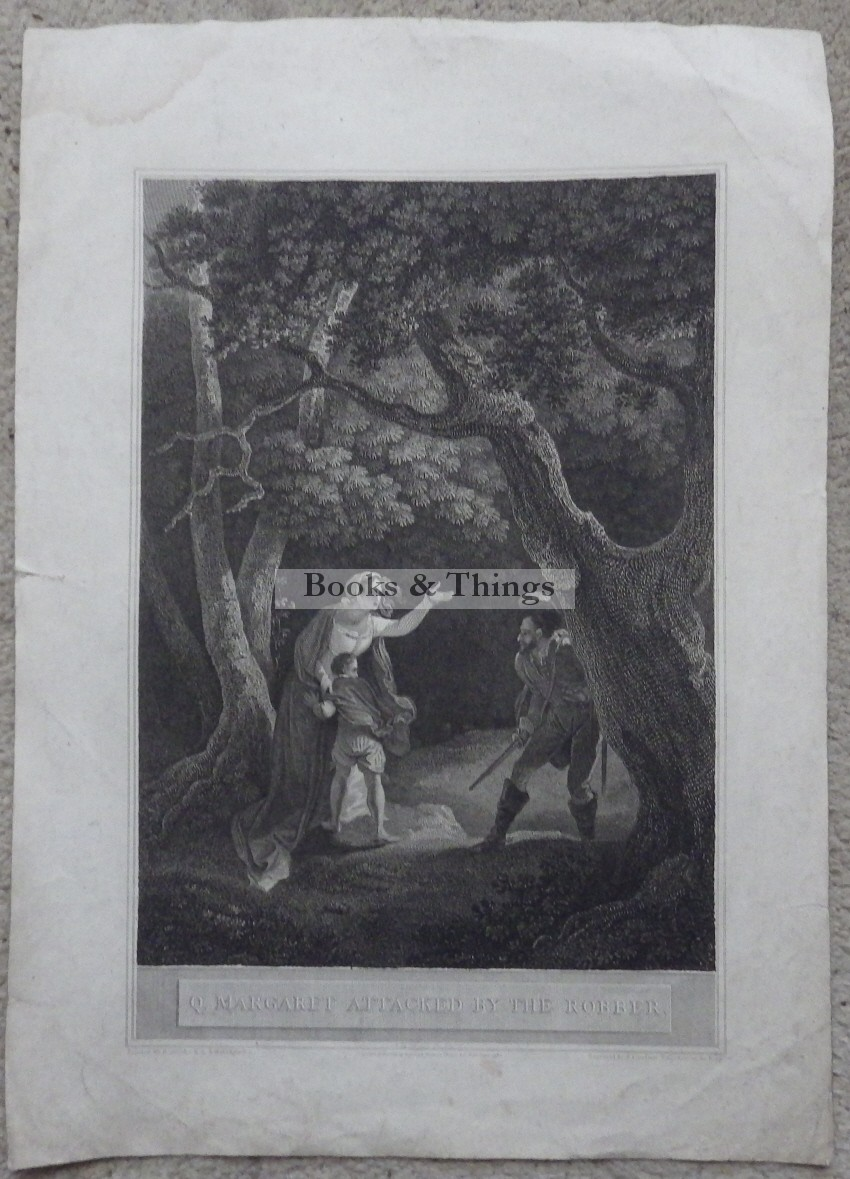 Margaret attacked by the robber engraving