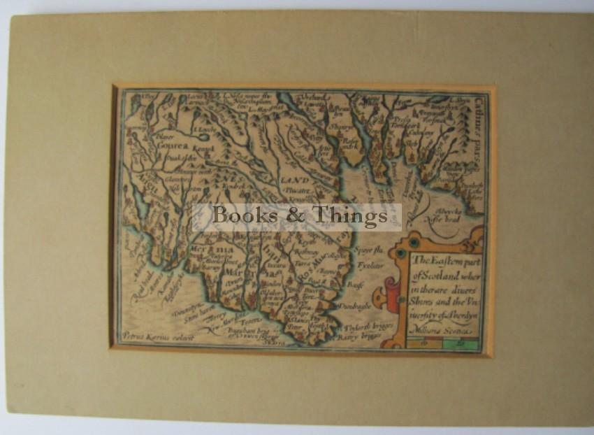 Pieter van der Keere Eastern Scotland map