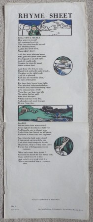 Thomas Sturge Moore rhyme sheet