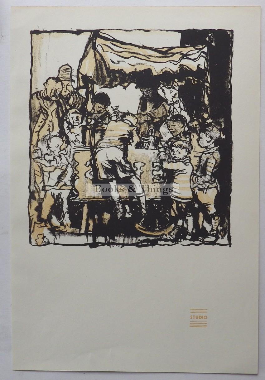 Frank Brangwyn autolithograph