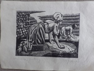 Jessie Heap wood engraving