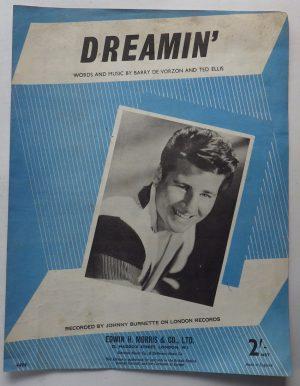 Johnny Burnette Dreamin sheet music