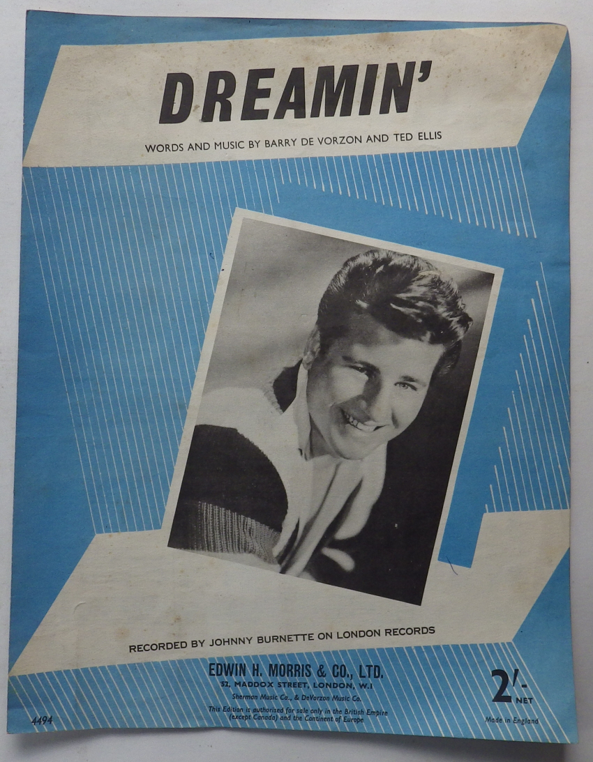Johnny Burnette Dreamin sheet music