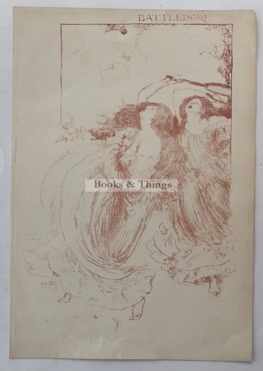 Robert Anning Bell lithograph Battledore